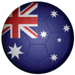 Australia Football Flag 25mm Flat Back